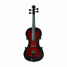 Barcus Berry BAR-AEVR Acoustic Electric Violin Outfit w/ Case RED Handcrafted
