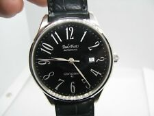 Paul Picot Gentleman 4115 Black dial black leather, New