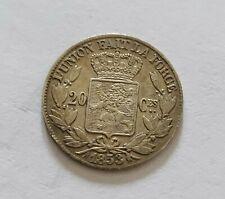 20 cent. 1853 Leopold 2 tête  nue !