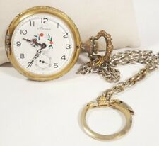 Arnex Pocket Watch Incabloc Swiss Gold Case Mechanical Hand Winding 17j Vintage