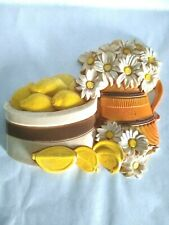 HOMCO KITCHEN WALL DECOR LEMONS,  & DAISIES MULTI COLOR VINTAGE COUNTRY