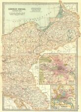PRUSSIA POLAND POSEN SILESIA. Berlin Hamburg.Shows battlefields/dates 1903 map