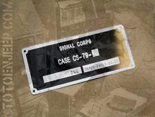 plate plaquette plaque ALIMENTATION PILE CS79 radio BC620 659 us ww2 jeep willys