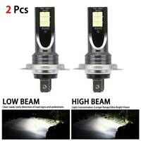 2x H7 110W LED Bulbs Super White Headlight Set High Low Beam Car Headlamp