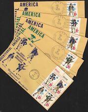 1975 Bicentennial Military Services Sc 1568a Falkon 1st cachet set of 5