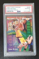 AMAZING COLOR 1999 Topps Chrome Kobe Bryant Lakers HOF PSA 10 GEM MT New Holder