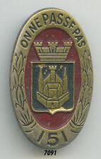 Insigne infanterie , 151  RI.  , (  estempé, peint  )