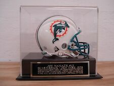 Display Case For Your Joe Namath Jets Autographed Football Mini Helmet