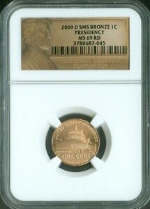 2009-D LINCOLN CENT LOGO PRESIDENCY NGC MS69 RED SMS QUALITY✔️