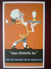 POSTCARD  POSTER FOR 'YOUR EDISON SIR'
