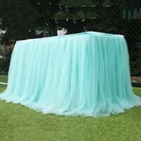 Tutu Tulle Table Skirt Tableware Table Cloth Cover Home Wedding Party Decor UK