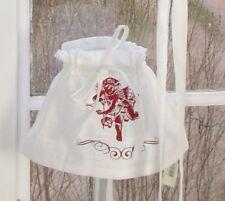 LillaBelle ROMANTIK Weiß Rot Lampenschirmhusse Shabby Franske Landhaus Country