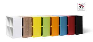 4er Cubes Regal Regalwürfel  in 9 Farben Montage werkzeuglos mit Clic System