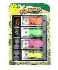 IMPERIAL Play Money Cash & Tray Drawer Coins Bills Kids Pretend Fake Money.
