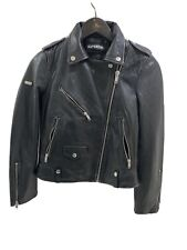 superdry leather jacket S Uk10