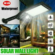 36 LED Solar Wall Lights PIR Motion Sensor Waterproof Outdoor Garden Yard Lamps