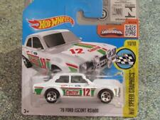 HOT WHEELS 2016 #185/250 1970 FORD ESCORT RS1600 Bianco HW Velocità grafica CASE L