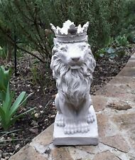 Crowned Lion Statue Rubber Latex Mould 13 inches tall approx