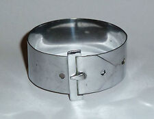 Plated Opening Buckle Bangle An Art Deco Chrome