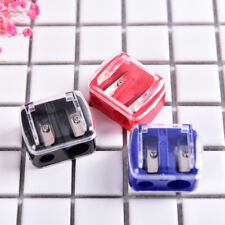 Precision Makeup Cosmetic Pencil Sharpener Eyebrow Lip Liner Eyeliner 2 Holes