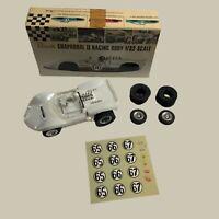 RARE 60'S VINTAGE 1/32 SCALE REVELL CHAPARRAL 2 SLOT CAR SPARE TIRES BOX VTG