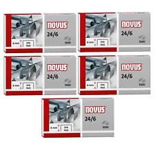 5000 Heftklammern Novus 040-0158, 24/6, verzinkt, 5 Packungen a. 1000 Stück