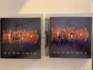 Def Leppard-Euphoria-2 Copies Autographed by the Band!