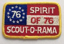 BSA Scout-o-rama Patch - Spirit of 76 - Yellow Border