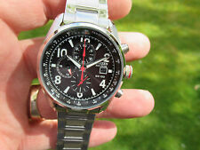 CITIZEN CHRONOGRAPH TACHYMETER 24 HOUR DATE RED SECONDS HAND CHUCKY HEAV V/G/C