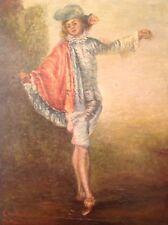 ANTONIO WATTEAU Bello copia il famoso quadro GLI INDIFFERENTI Olio firmato