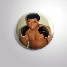"MUHAMMAD ALI BOXER Cassius Marcellus Clay B - Pinbacks Badge Button 2 1/4"" 58mm"