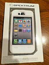 Spektrum Tuff Case iPhone 4/4S, all White, hybrid, rubber outer, plastic inner