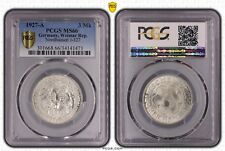3 MARK 1927 A NORDHAUSEN GERMANY WEIMAR REPUBLIC PCGS MS66