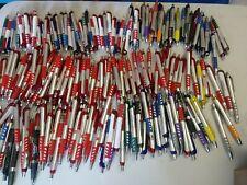 200 Bulk Lot Misprint Mostly Plastic All Fat Barrel Retractable Ink Pens