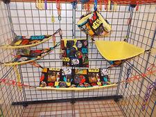 STAR WARS CHARACTERS  Sugar Glider 6 pc cage set