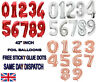 "42"" Giant Foil Number Rose Gold Balloons Birthday Wedding party AIR OR HELLIUM"