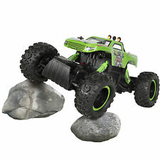 Powerful Remote Control Truck RC Rock Crawler, 4x4 Drive & Monster Wheels Green