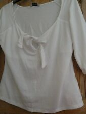 Ladies white top size 14