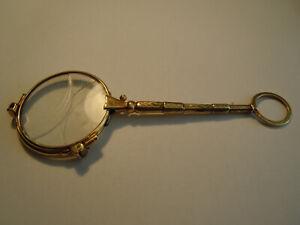 Klappbrille antik 585 Gold Lorgnette ca 1900
