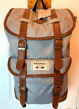 NWT Benrus Military Scout Backpack Gray Unused Book Bag