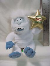 """1999 Stuffins Cvs 8"""" Abominable Snowman Happy New Year 2000 Rudolph Trnr"""