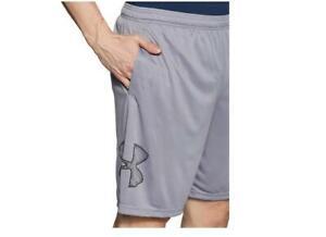 Under Armour Mens Grey Shorts Heat Gear Ultra-Light Running Workout & Gym M L XL