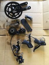 Shimano Sora 9 X 2 Speed groupset Inc Crank, Shifters, Brakes, Cassette, BB