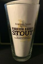 ANDERSON VALLEY BREWING CO 16 oz BOURBON BARREL STOUT Beer Glass Boonville CA