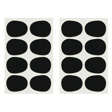 16pcs Alto/tenor Sax Clarinet Mouthpiece Patches Pads Cushions, 0.8mm Black H2K4