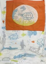 Kids Octopus Sealife Dolphin Submarines Twin Duvet Cover+pillow Sham Orange Blue