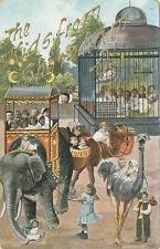 Shoreham VT * Kids and Circus Animals  ca. 1908 * Addison Co.  Elephant Camel