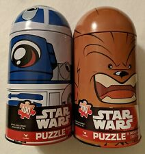 STAR WARS Chewbacca & R2D2 Tin Capsule Puzzle 100 Piece Puzzles NEW SEALED