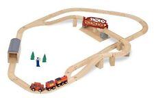 Melissa Doug Swivel Bridge Wooden Train Set (47 pcs)