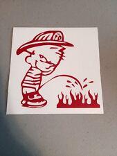 Fireman Piss On Fire Vinyl Die Cut Decal,Funny, Window, Truck,car,wall,Fire Dept